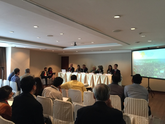 Panelist discussion during the ACCCRN Network Launch. Credit: ICLEI
