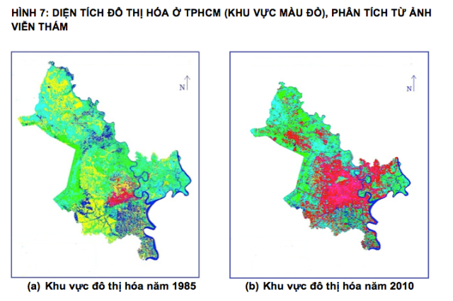 Urbanized areas Ho Chi Minh